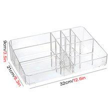 Большой ящик для хранения косметики офисный пластиковый Настольный