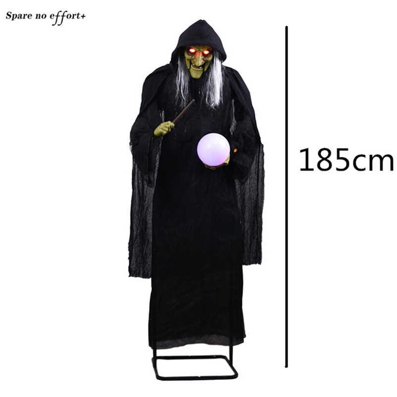 Creepy Halloween Bruxa Fantasma de Pé Decoração Fontes Do Partido Adereços Halloween Casa Assombrada Assustador Fantasma Assustador do Dia Das Bruxas