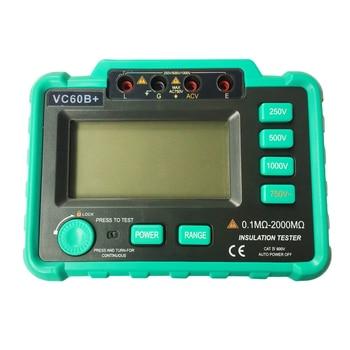 VC60B+ Digital Insulation Resistance Tester Megohm Meter Megohmmeter earth ground resistance impedance tester DC250V/500V/1000V