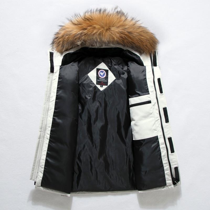 90%Down Jackets Men Winter Jacket Men Fashion Thick Warm Parkas Fur White Duck Down Coats Casual Man Waterproof Down Jackets 165 3
