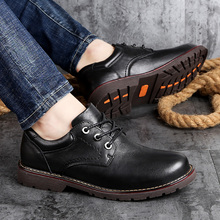 Handmade Black men shoes outdoor Genuine leather Me