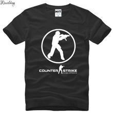Male Tops Sweatshirt Counter Strike Printed Cotton Fashion Short Tees CS GLOBAL Summer-Style