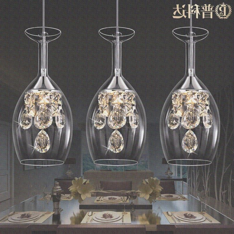 Modern Fashion Dining Room K9 Crystal 5w Led Chandelier Lamp Diy Home Deco Living Room Clear Glass Cup Chandeliers Light Fixture