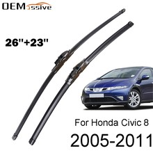 Janela dianteira windshield windscreen wiper blades conjunto para honda civic 8 mk 8 europeu 2011 2010 2009 2008 2007 2006 2005