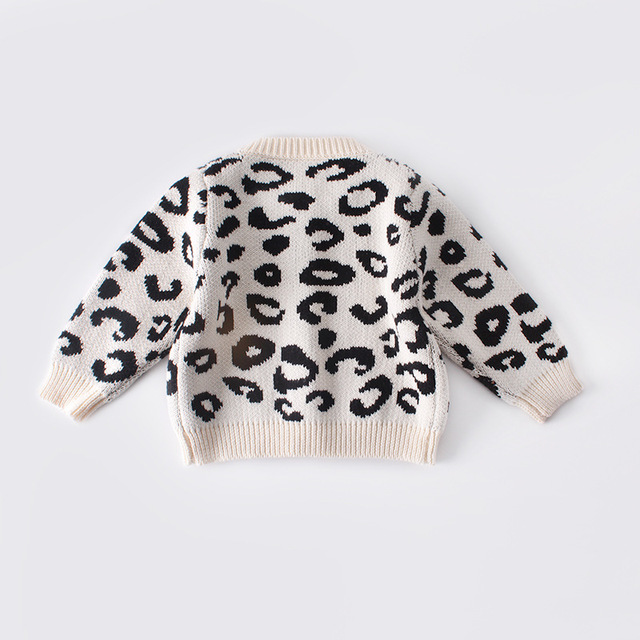 2019 New Pattern Baby Jumpsuit Girl Spring And Autumn Sweater Leopard Print Jacket+Leopard Print Jumpsuit Two Piece Suit 1