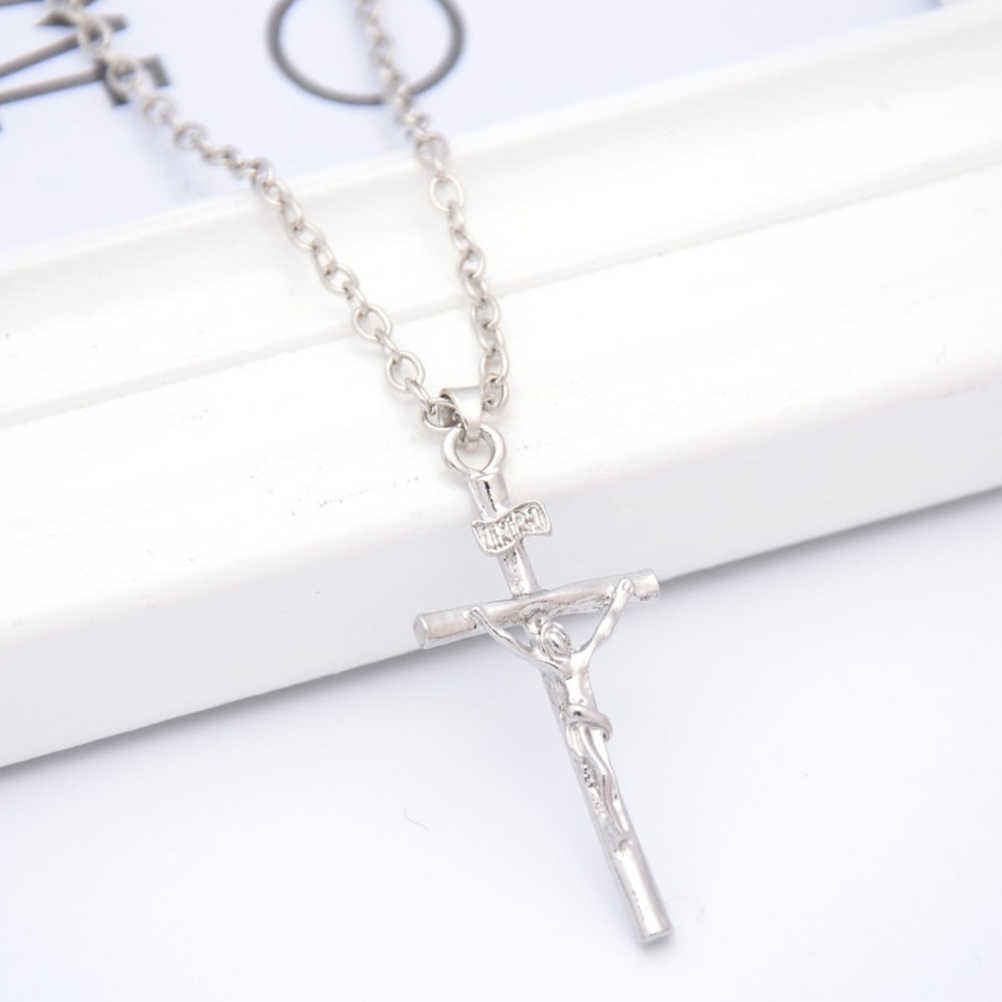 Cross Necklaces & Pendants For Men Stainless Steel Gold Sliver Colour Male Pendant Necklaces Prayer Jewelry Friend Gift