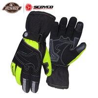SCOYCO Waterproof Motorcycle Gloves Men Moto Gloves Windproof Gant Moto Touch Screen Guantes Motorbike Riding Gloves Winter