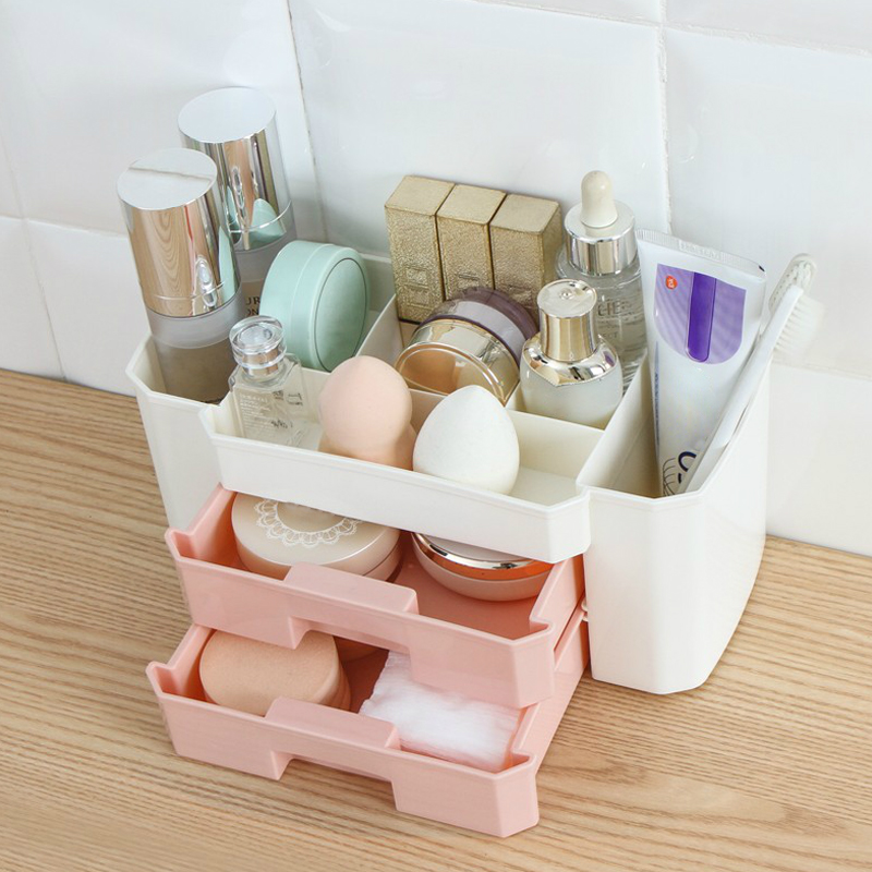 Desktop Drawer Makeup Organizer Women Cosmetics Cotton Swabs Holder Jewelry Necklace Earrings Lipsticks Storage Box Accessories