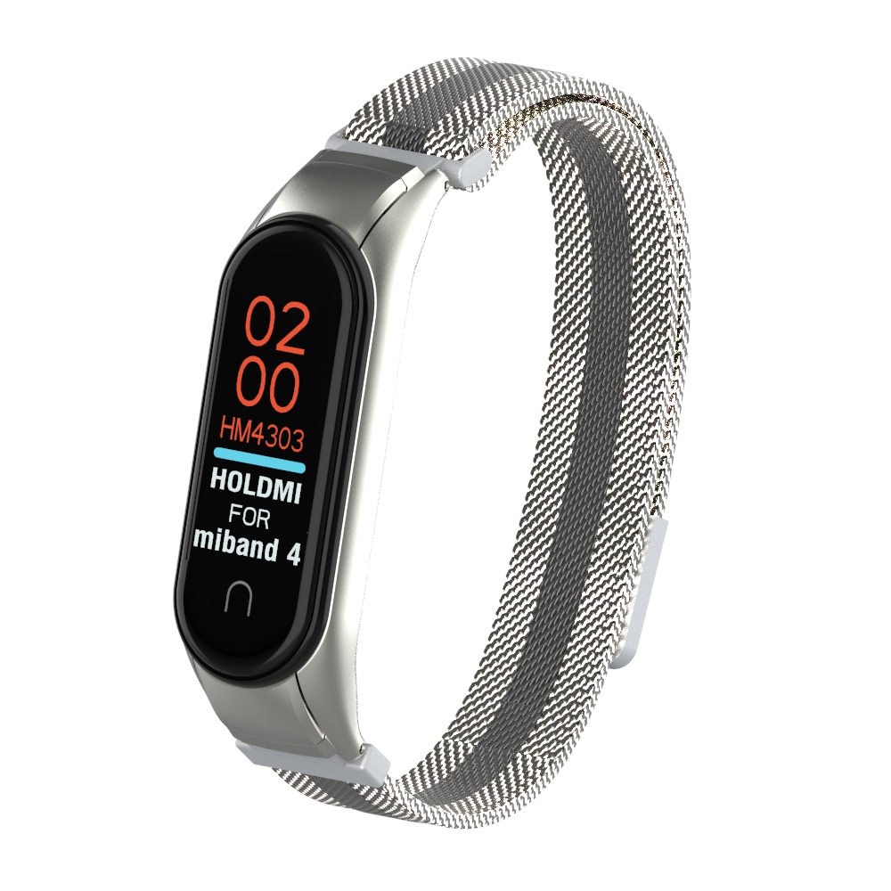 YAYUU Smart Watch Wrist Strap For Xiaomi Mi Band 4 3 MiBand 3 4 Strap Metal Bracelet Stainless Steel Watch Strap Mi Band 3 4
