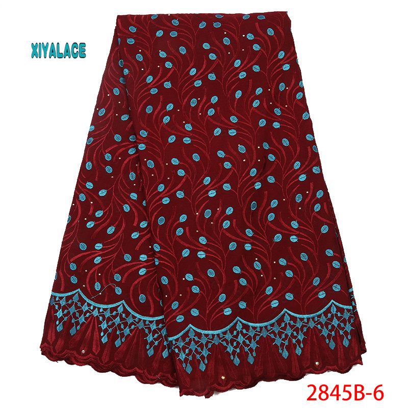 Swiss Voile Lace Fabric 2019 High Quality Lace African Dresses Best Selling For Wedding Lace Cotton Lace Party Dress YA2845B-6