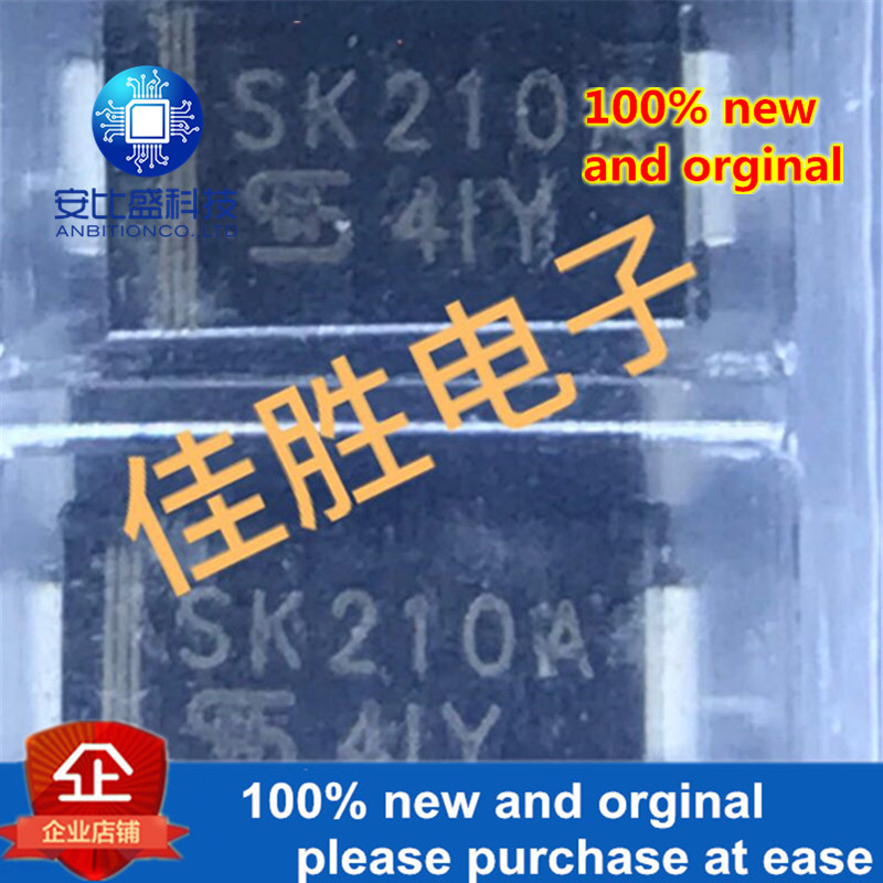 50pcs 100% New And Orginal 2A100V DO214AC Silk-screen SK210A Schottky Diode In Stock