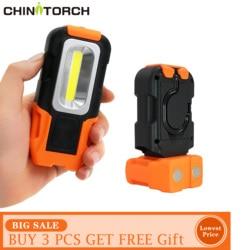 COB Arbeit Lampe Tragbare LED Mini Magnetische Taschenlampe Outdoor Camping COB Laterne 3 W Batterie-betrieben Multi-verwenden arbeits Licht
