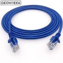 Melhor preço 1m 2m 3 5m 10m azul ethernet internet lan cat5e cabo de rede para computador modem roteador qualidade superior june5