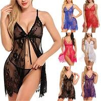 Сексуальное Ночное платье, Женское ночное белье, ресницы, ночная блузка на бретельках, нижнее белье, ночная рубашка, стринги, комплект нижне...