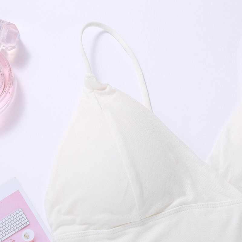 2020 여성을위한 여름 섹시한 탱크 탑 Camis v 넥 나이트 클럽 Wind Holiday Small Sling Cropped Tops 조끼 자른 Feminino