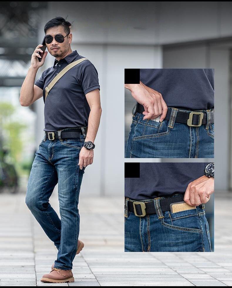 desgaste, de cintura média, reta, com bolsos