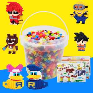 Bucket-Set Puzzle-Toys Building-Block Diy Plastic Assembly Science-And-Education-Enlightenment-Assembly