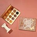 Colorurpop paleta de sombra dourada, glitter e matte em 12 cores