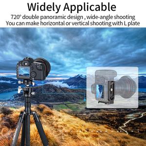 Image 5 - G34/G40 Professional Tripod Ball Head Low Profile Gravity Center Double Panoramic Ballhead with L Q.R.Plate for Digital Cameras