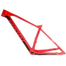 STUWKRACHT 2019 Gratis verzending nieuwste rode BOOST outdoor mountain fietsframe 148*12mm MTB fietsframe UD 29er fiets accessoires