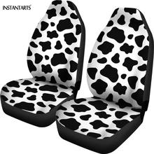 INSTANTARTS White and Black Cow Lover Pattern Car Seat Cover