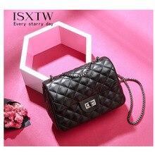 ISXTW 2019 Summer And Autumn New Fashion Mini Handbag Small Aroma Therapy Diamond Chain Bag Shoulder Messenger Black / A26