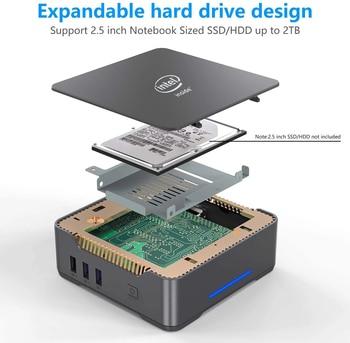 GK3V Mini PC Intel Celeron J4125 Windows 10 8GB DDR4 128GB 256GB 512GB 1TB SSD Gaming PC 2.4G 5G WiFi 1000M Mini Computer 4