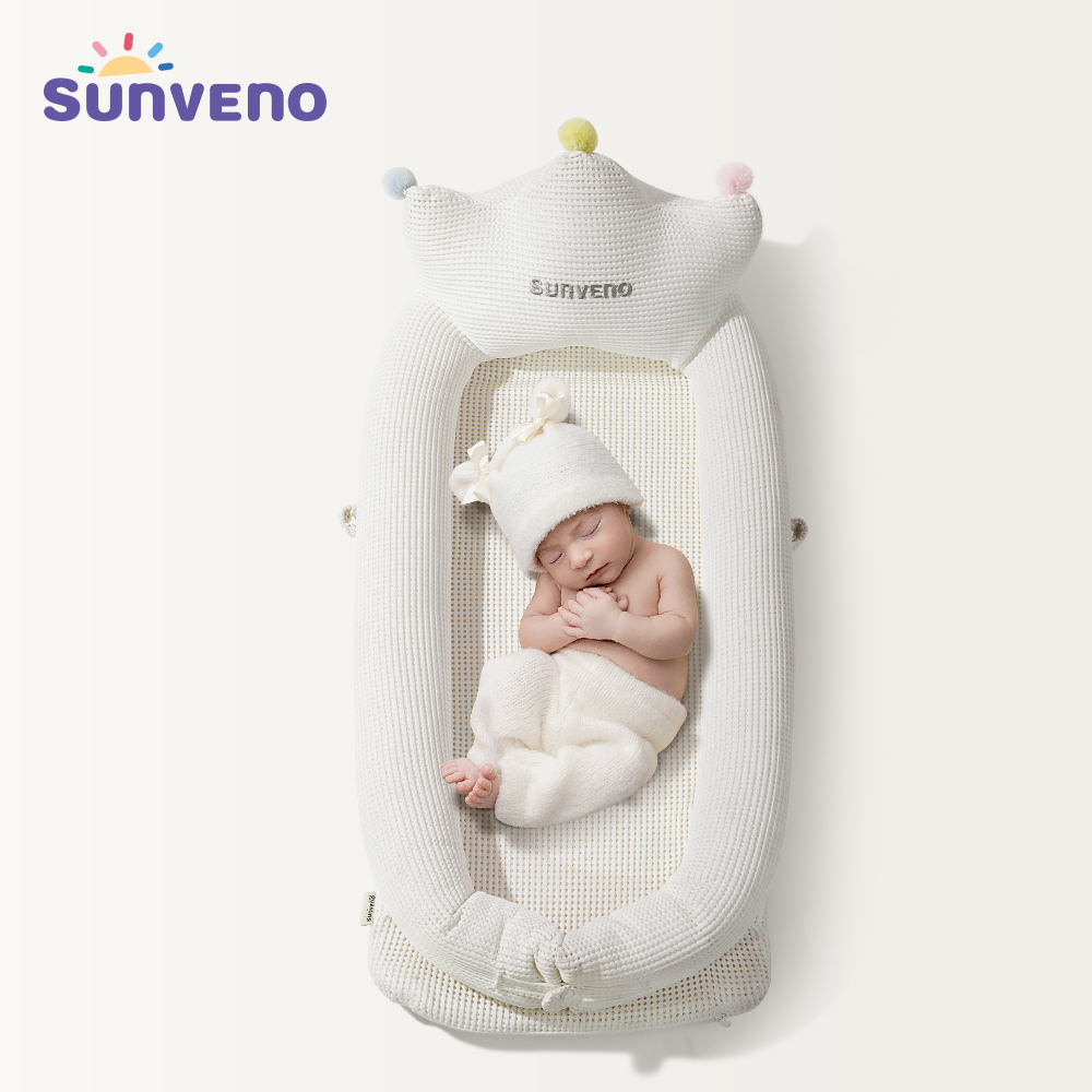 Sunveno Baby Co Sleeping Crib Bed Portable Baby Crib Foldable Travel Bed Nest Cot Crib Mother & Kids Baby Care
