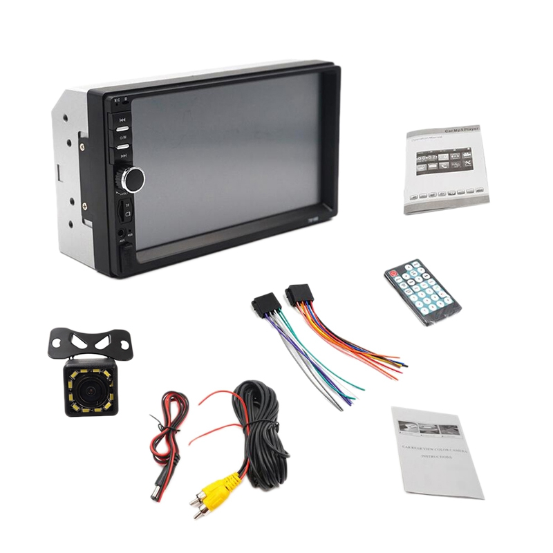 7 Inch Hd Contact Screen Car Bluetooth 2Din Mp5 Player <font><b>7018B</b></font> Car Card Bluetooth Handsfree Reversing Rear View image
