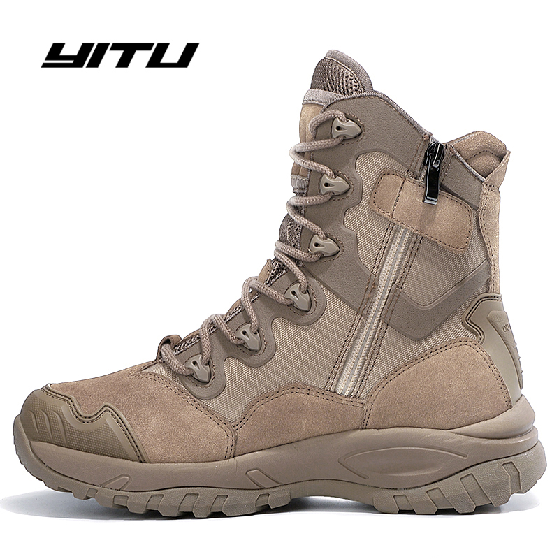 US Army Tactical Comfort Desert Leather Combat Military Boots Mens Army Shoes