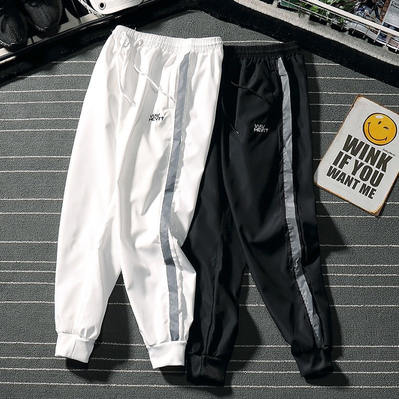 Casual Athletic Pants Men's Beam Leg Loose-Fit Pants Men Quick-Dry Capri Pants Thin Trend Breathable Summer