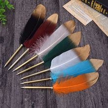 50pcs/set Creative Feather Ball Pen Customized Brush Christmas Gift Wedding Signature Wholesale Factory