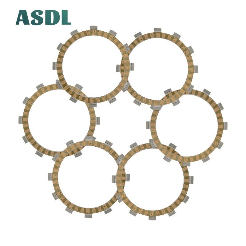 Motorcycle Engine Parts Clutch Friction Plates Kit For Suzuki GT 185 TS 185 <font><b>DR</b></font> <font><b>200</b></font> GT <font><b>200</b></font> GSF 250 Bandit GSXR 250 RG 125 #d image
