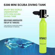 SMACO Diving Equipment Mini Scuba Cylinder Oxygen Tank scuba gear spare air snorkel regulator respirator S300