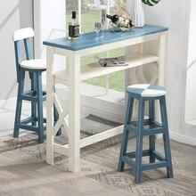 Vintage de madera maciza antigua mesa pequeña para bar contra la pared hogar Sala partición bar mostrador mesa de centro Mesa alta