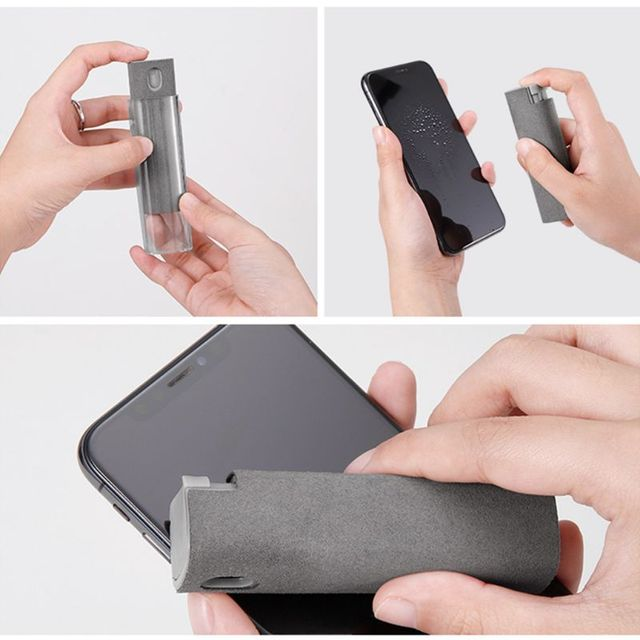 1Set Portable Phone PC Screen Cleaner Microfiber Cloth Cleaning Device for TV N1HD