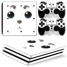 Pegatina con patrón de dibujos animados para consola PS4 Pro, 2 controladores, accesorios para Sony Playstation 4 Pro