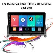 Eastereggs 9 Polegada 2 din android 8.1 rádio do carro para mercedes benz c classe 3 w204 s204 2006 - 2011 wifi gps navegação autoradio