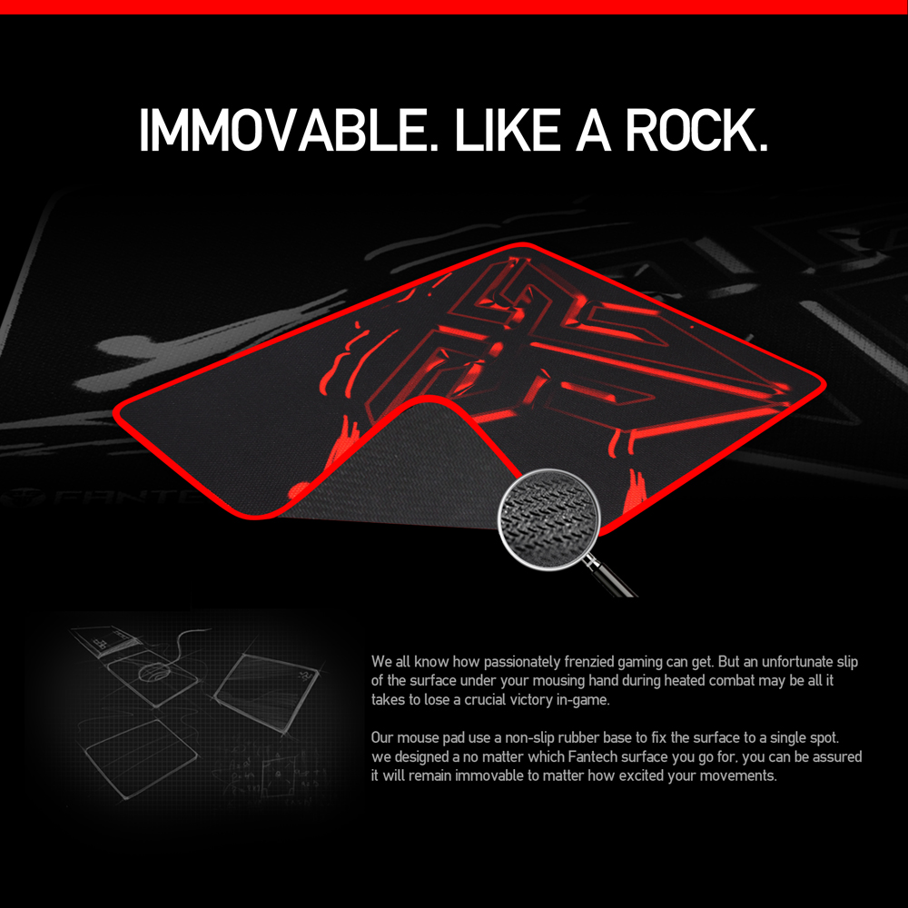 Image 4 - FANTECH MP25 Gaming Mouse Pad 25x21x0.02cm Anti slip Natural Rubber Mousepad Gamer Ultra smooth Cloth Surface  For FPS LOL Game-in Mouse Pads from Computer & Office