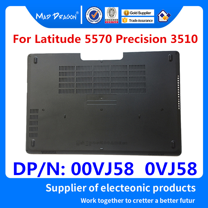 MAD DRAGON Brand Laptop NEW Bottom Base Bottom Cover Assembly for <font><b>Dell</b></font> Latitude 5570 E5570/Precision <font><b>3510</b></font> M3510 00VJ58 0VJ58 image