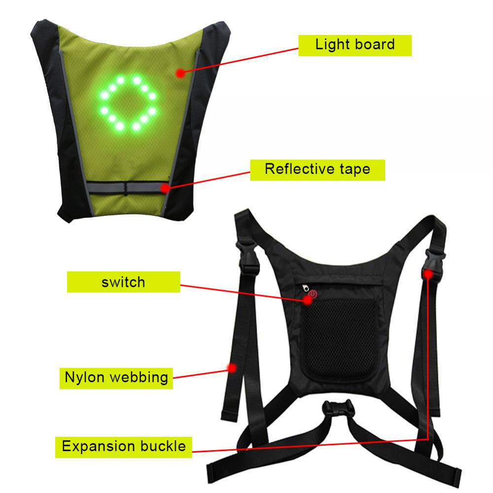Super Deal #fad8d - New 2020 LED Wireless Cycling Vest 20L MTB Bike Bag  Safety LED Turn Signal Light Vest Bicycle Reflective Warning Vests With Remo    Cicig.co