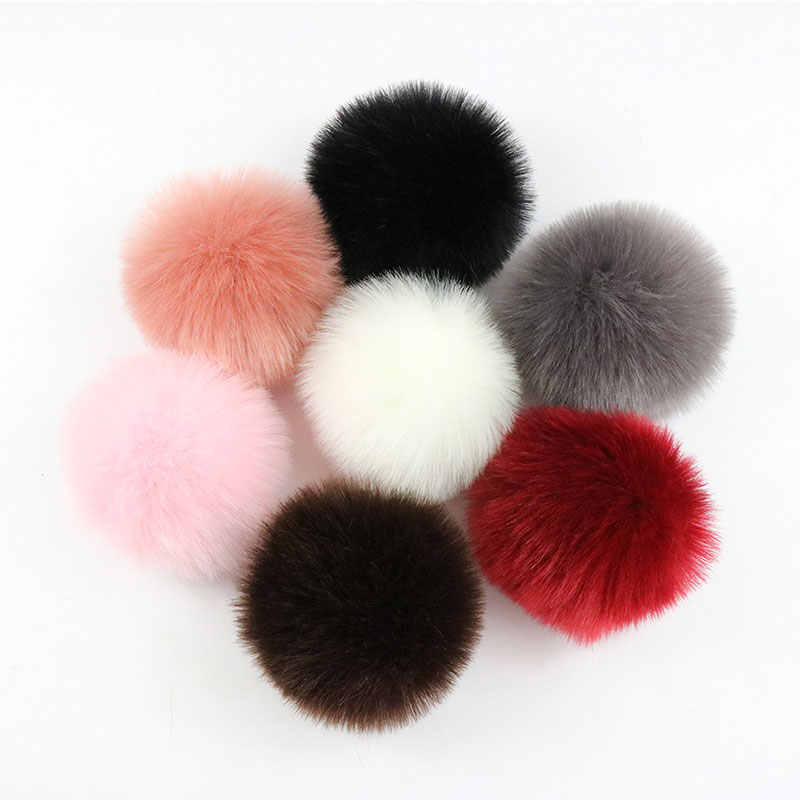 Colorful 10Cm DIY Natural Fox Fur Pompoms  Raccoon Fur Pom Poms Balls real Fur Pompon for Hats Bags Scarves Accessories