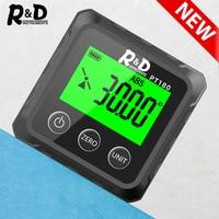 Transportador de ángulo R & D PT180, Mini transportador Digital electrónico Universal cónico de 360 grados, inclinómetro, herramientas de medición