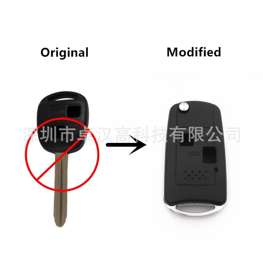 For Toyota Urban CruiserScion xD Instead of Original Factory Auto Car Key KETO New 2 Buttons Change Car Key Shell