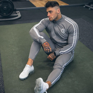 Image 4 - Mens Sports Suits Running Gym Tracksuit Men Set Sports Top Jogging Set Fitness Bodybuilding Sports Suits Mens Hoodie+Pants Suit