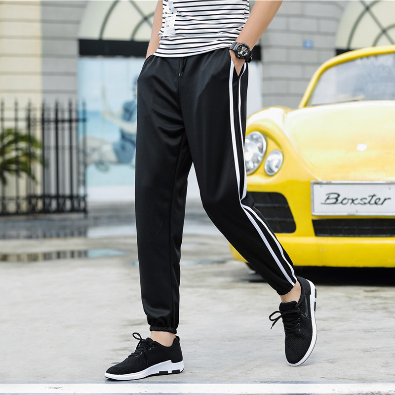 Men Legs Casual Pants Elastic Waist Skinny Sports Harem Trousers Ankle Banded Pants Fashion Sweatpants Trousers