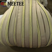 Meetee 4/8Meters 5# Nylon Coil Code Zippers Decor DIY Sewing Bags Purse Garment Zip Material Accessories Colorful Available