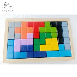 2020 nowe drewniane nowe Puzzle gry planszowe Tetris Puzzle dla dzieci stoją objętość drewna Puzzle zabawki prezent dla dzieci