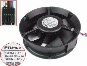 papst TYP 6248 N3T DC 48V 18W 172x172x50mm 5-wire Server Cooling Fan