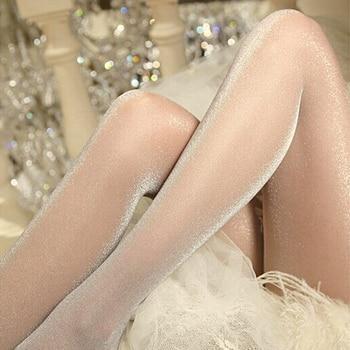 1PC Fashion Women Ladies Sexy Charming Shiny Pantyhose Glitter Stockings Womens Glossy Thin Tights Summer Autumn - discount item  30% OFF Women's Socks & Hosiery